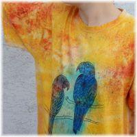 Batikované pánské tričko - Exot Batitex - modní trička, šály, šátky
