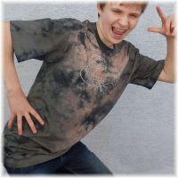 Pánské batikované tričko - Neruš!