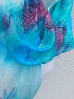 Hedvábná malovaná šála - Meluzínka 2 Batitex - malovaná trička, mikiny, šátky, šály
