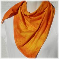 Bavlněný batikovaný šátek - Oranžový