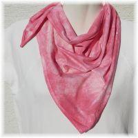 Bavlněný batikovaný šátek - Růžový