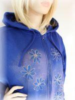 Dámská malovaná mikina - Ledová křehkost Batitex - malovaná trička, mikiny, šátky, šály