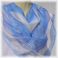 Hedvábný šátek - Polární krajina