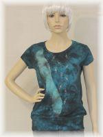 Dámské batikované tričko - Hudební nebe
