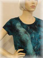Dámské batikované a malované tričko - Hudební nebe Batitex - malovaná, batikovaná trička, mikiny, šátky, šály, kravaty