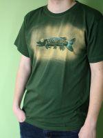 Pánské malované tričko - Štika