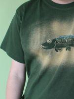 Pánské malované tričko - Štika Batitex - modní trička, mikiny, šátky, šály, kravaty