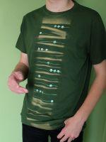 Pánské malované tričko - Brouzdání v trávě