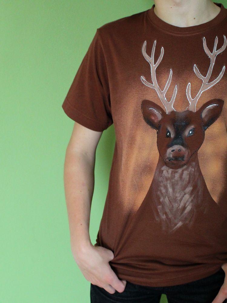 Pánské malované tričko - Jsem z toho jelen! Batitex - modní trička, mikiny, šátky, šály, kravaty