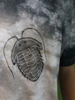 Pánské malované tričko -Trilobiti Batitex - modní trička, mikiny, šátky, šály, kravaty