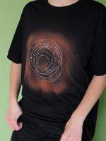 Pánské malované tričko - Galaktický let Batitex - modní trička, mikiny, šátky, šály, kravaty