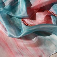 Hedvábný šátek - Korálové vábení 2 Batitex - malovaná, batikovaná trička, mikiny, šátky, šály, kravaty