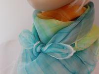 Hedvábný ručně malovaný šátek - Kolibříci 2 Batitex - malovaná, batikovaná trička, mikiny, šátky, šály, kravaty