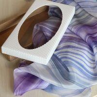 Hedvábný malovaný šátek - Tajemství 2 Batitex - modní trička, mikiny, šátky, šály, kravaty