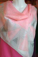 Hedvábný malovaný šátek - Sekundy štěstí 2