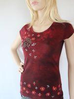 Batikované a malované dámské tričko - Švarná Hanka Batitex - malovaná, batikovaná trička, mikiny, šátky, šály, kravaty