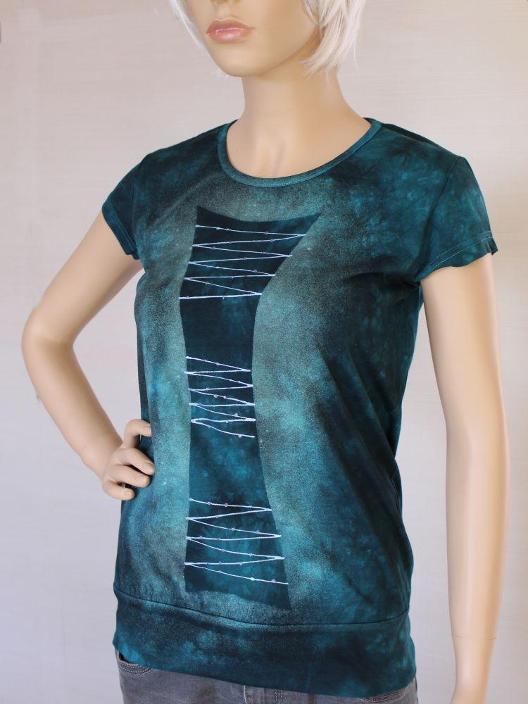 Dámské batikované a malované tričko - Zpívající fontána Batitex - malovaná, batikovaná trička, mikiny, šátky, šály, kravaty