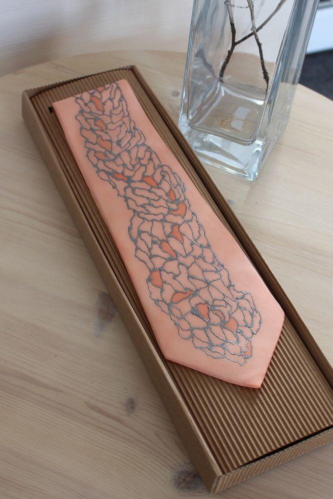 Hedvábná kravata - Minerály Batitex - modní trička, mikiny, šátky, šály, kravaty