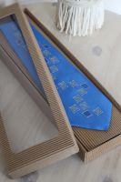 Hedvábná kravata - Po modré