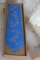 Hedvábná kravata - Po modré Batitex - modní trička, mikiny, šátky, šály, kravaty
