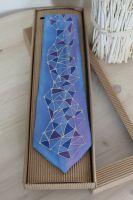 Hedvábná malovaná kravata - Alpy