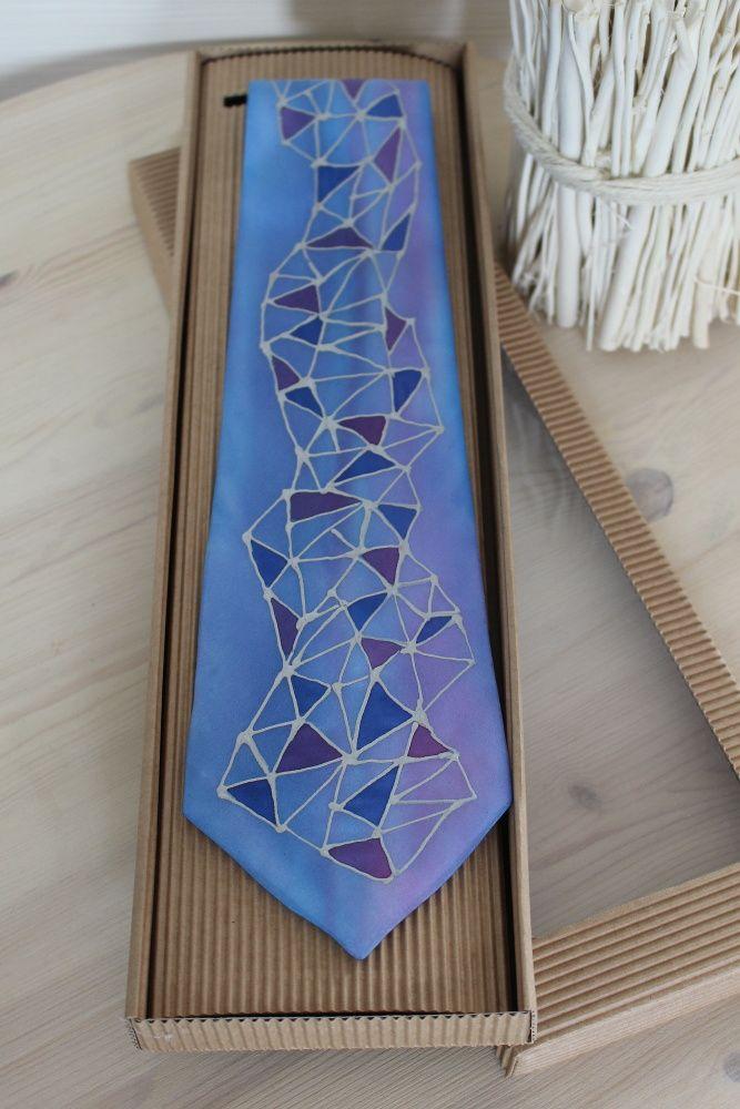 Hedvábná malovaná kravata - Alpi Batitex - modní trička, mikiny, šátky, šály, kravaty