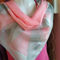 Hedvábný malovaný šátek - Sekundy štěstí Batitex - malovaná, batikovaná trička, mikiny, šátky, šály, kravaty