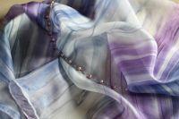 Hedvábný malovaný šátek - Tajemství Batitex - modní trička, mikiny, šátky, šály, kravaty