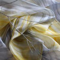 Hedvábný šátek - Zimní sluníčko