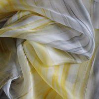 Hedvábný maloavané šátek - Zimní sluníčko Batitex - malovaná, batikovaná trička, mikiny, hedvábné šátky, šály, kravaty