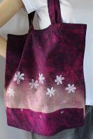 Malovaná taška - Růžová krajina