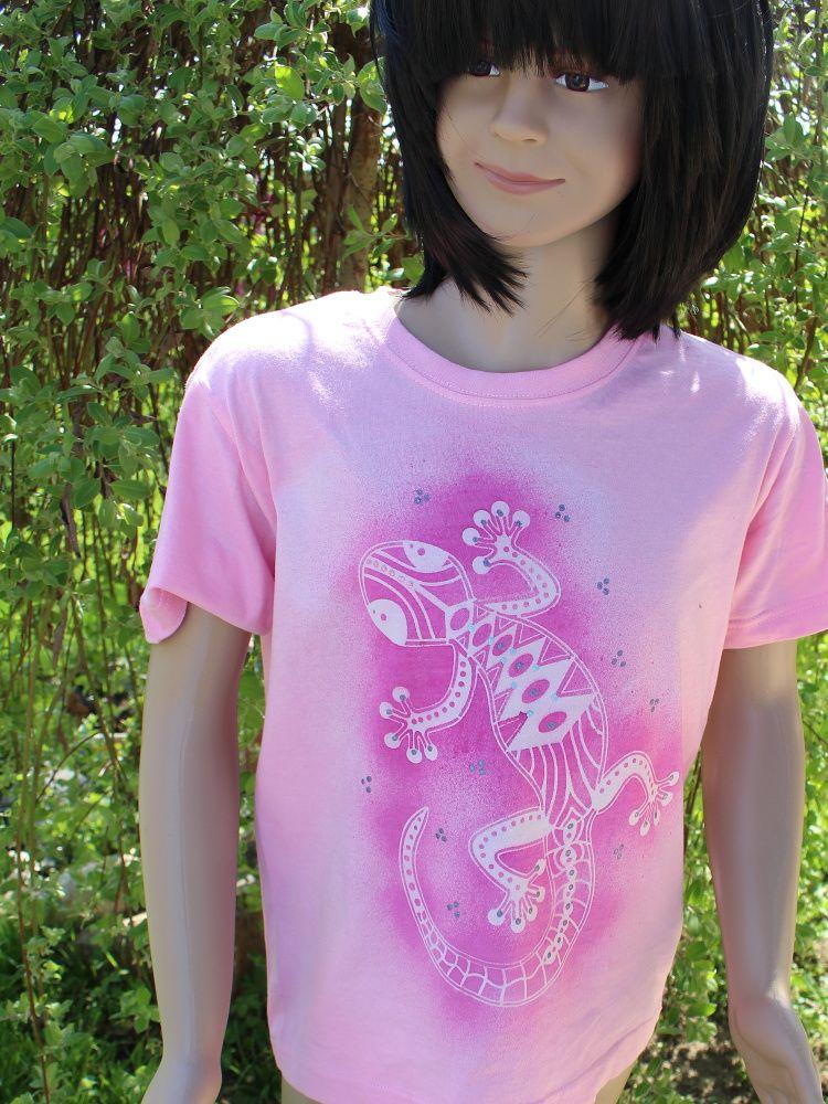 Malované dětské tričko - Malá ještěrka Batitex - modní trička, mikiny, šátky, šály, kravaty