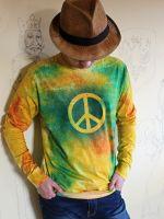 Pánské batikované tričko - Happy