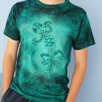 Pánské batikované tričko - Ještěrius