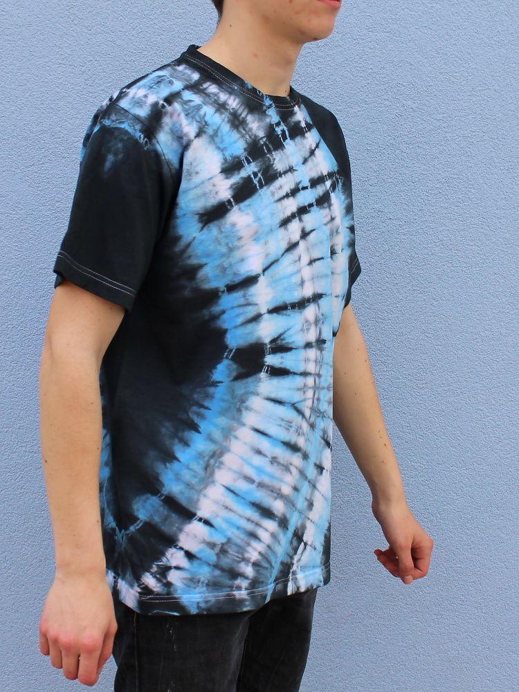 Pánské batikované tričko - Měsíční řeka Batitex - malovaná, batikovaná trička, mikiny, šátky, šály, kravaty