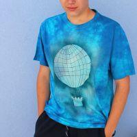 Pánské batikované tričko - Letím ke hvězdám