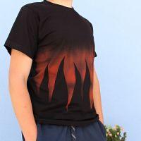 Pánské malované tričko - Rockový element Batitex - modní trička, mikiny, šátky, šály, kravaty