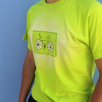 Pánské malované ričko - Cyklo Batitex - malovaná, batikovaná trička, mikiny, šátky, šály, kravaty