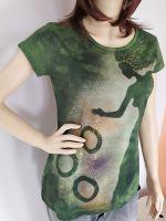 Batikované a malované tričko - Když příroda čaruje Batitex - malovaná, batikovaná trička, mikiny, hedvábné šátky, šály, kravaty