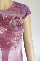 Batikované malované dámské tričko - Strom melanchonie Batitex - malovaná, batikovaná trička, mikiny, hedvábné šátky, šály, kravaty