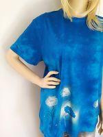 Dámské batikované maxi tričko - V záplavě máků Batitex - malovaná, batikovaná trička, mikiny, hedvábné šátky, šály, kravaty