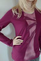 Dámské malované tričko - Dožiňkové zvonění Batitex - malovaná, batikovaná trička, mikiny, šátky, šály, kravaty