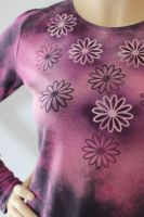 Dámské batikované a malované tričko - Sedmikrásko, usínej! Batitex - malovaná, batikovaná trička, mikiny, šátky, šály, kravaty