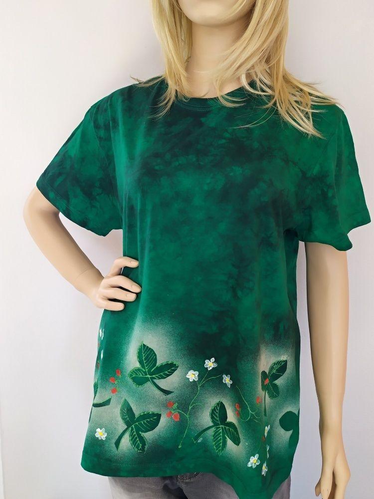 Dámské maxi tričko - Jarní nádech Batitex - malovaná, batikovaná trička, mikiny, hedvábné šátky, šály, kravaty