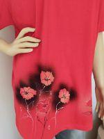 Dámské maxi tričko - Záplava máků Batitex - malovaná, batikovaná trička, mikiny, hedvábné šátky, šály, kravaty
