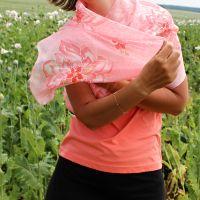 Hedvábná malovaná šála - Pssst, rozkvétá! 2 Batitex - modní trička, mikiny, šátky, šály, kravaty