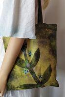 Malovaná taška - Tam, za vodou... Batitex - modní trička, mikiny, šátky, šály, kravaty