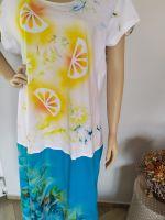 Malované batikované šaty - Citronáda, z autorské dílny z Olomouce - velikost M Batitex - malovaná, batikovaná trička, šaty, mikiny, šátky, šály, kravaty