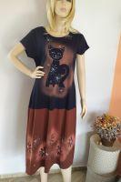 Malované batikované šaty- Kočičí šaty, z autorské dílny z Olomouce Batitex - malovaná, batikovaná trička, šaty, mikiny, šátky, šály, kravaty