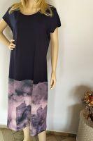 Malované batikované šáty - Město ztichlo, z autorské dílny z Olomouce Batitex - malovaná, batikovaná trička, šaty, mikiny, šátky, šály, kravaty